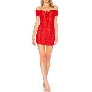 Majorelle Raquel Dress Off-The-Shoulder Lace-Up XS
